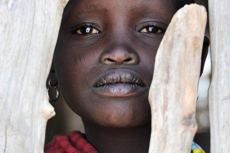 Portrait of a proud Masai girl